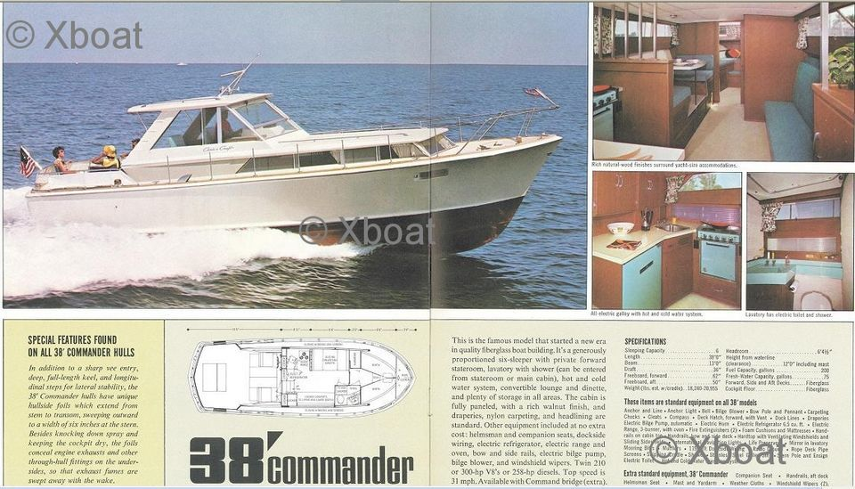 vedette chris craft - chris craft 38 commander